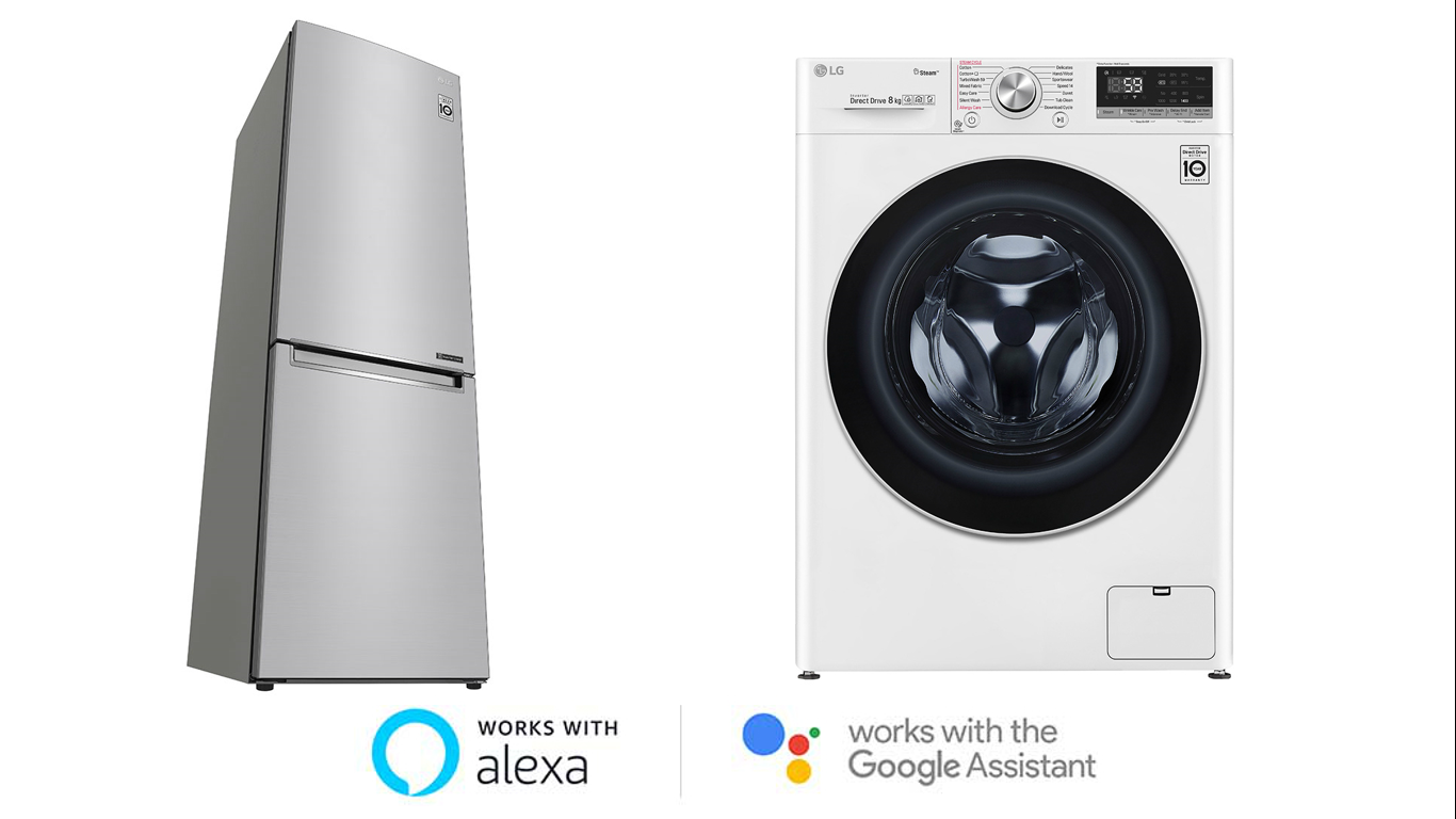 Elettrodomestici Smart LG, con Google Home e Amazon Alexa